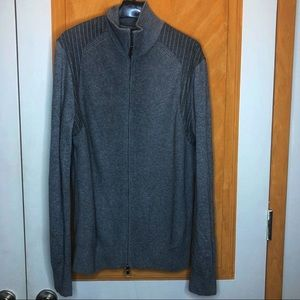 Banana Republic Grey Zip Up Sweater Size Large